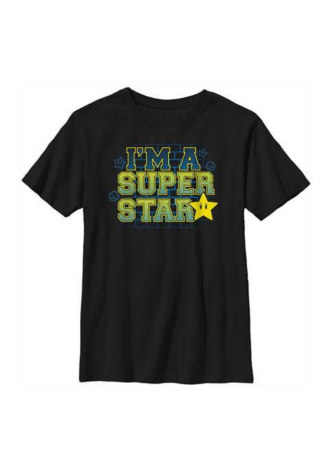 Nintendo Boys 4-7 Super Star Graphic T-Shirt