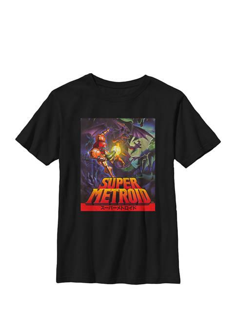 Nintendo Boys Samus Super Metroid Cover Crew T-Shirt