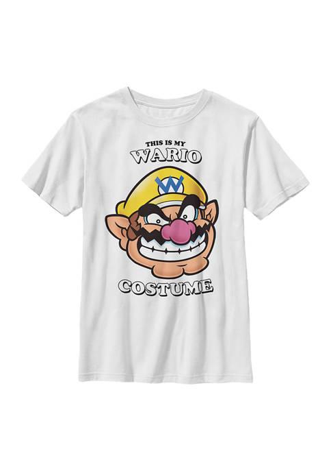 Nintendo Boys 4-7 Wario Face Graphic T-Shirt