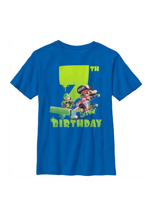 Nintendo Boys 4-7 Splatoon Seventh Bday Graphic T-Shirt