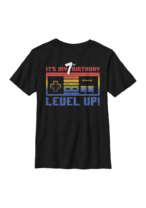 Nintendo Boys 4-7 Level Seven Graphic T-Shirt