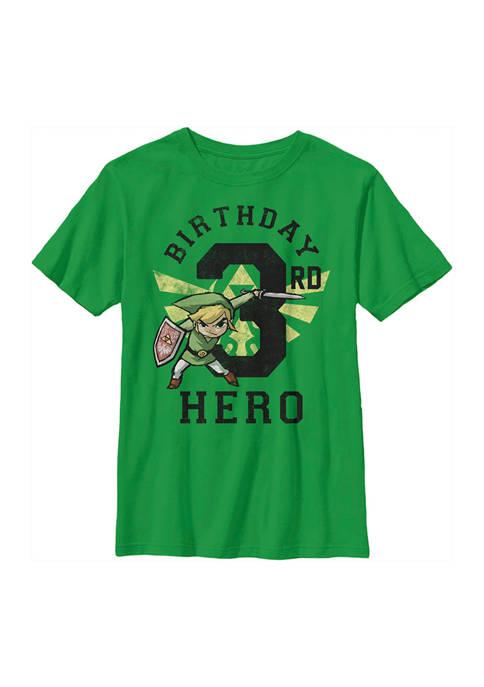Nintendo Boys 4-7 Link Birthday 3 Graphic T-Shirt