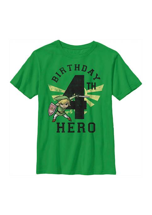 Nintendo Boys 4-7 Link Birthday 4 Graphic T-Shirt