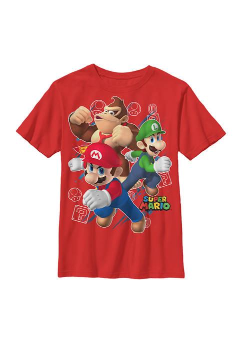 Nintendo Boys 4-7 Big Three Graphic T-Shirt