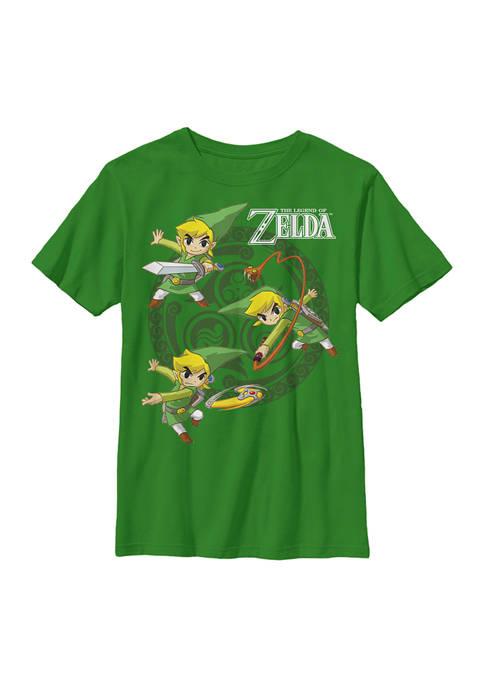 Nintendo Boys 4-7 Three Motions Graphic T-Shirt