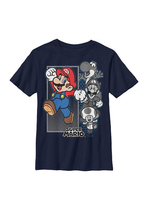 Nintendo Boys 4-7 Grey Gamers Graphic T-Shirt