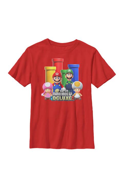 Nintendo Super Mario Pipes Group Shot Poster Crew