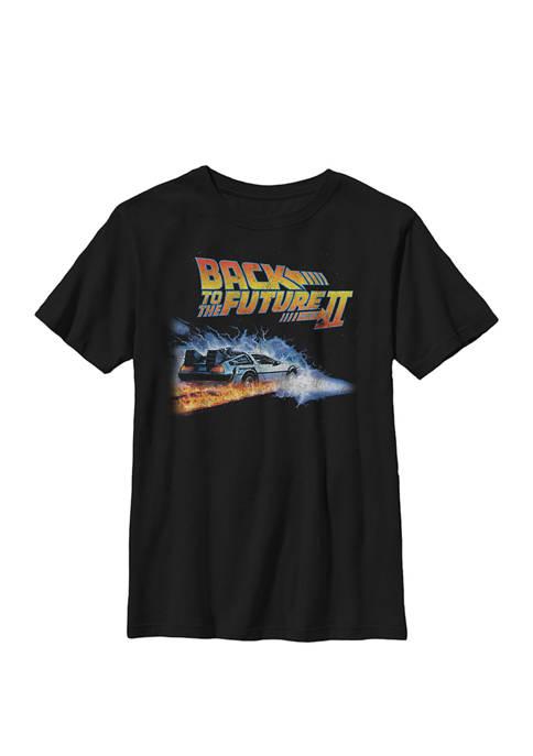 Delorean Jump Through Space Poster Crew Graphic T-Shirt