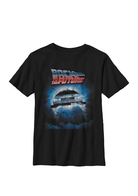 Delorean Outa Time Jump Poster Crew Graphic T-Shirt