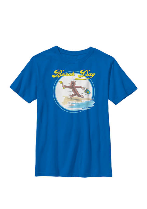 Beach Day Text Poster Crew Graphic T-Shirt