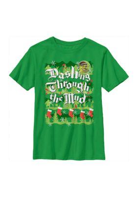 Shrek Boys Boys 4-7 Dashing Thru Mud T-Shirt