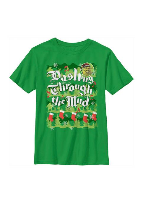 Shrek Boys 4 7 Dashing Thru Mud T Shirt Belk