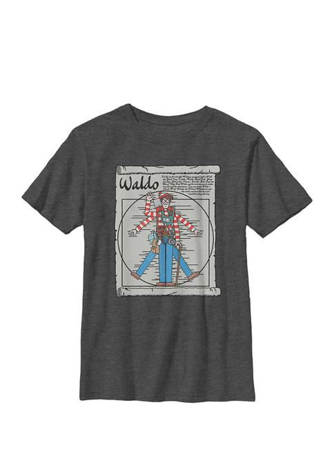 Vitruvian Man Portrait Crew Graphic T-Shirt