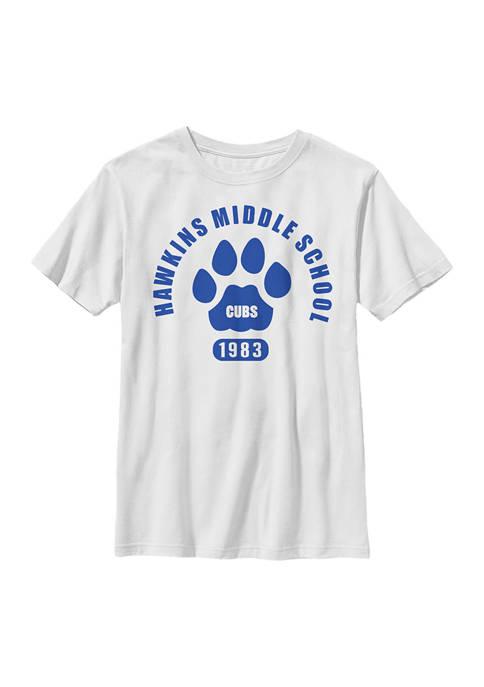 Stranger Things Boys 4-7 Hawkins Cubs Paw Emblem