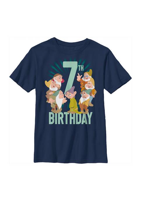 Disney® Princess Boys 4-7 Dwarves 7th Birthday Graphic