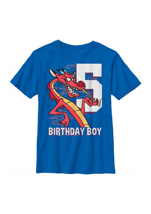 Disney® Princess Boys 4-7 Mushu 5th Birthday Graphic