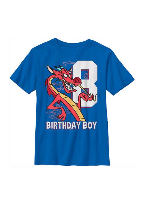 Boys 4-7 Mushu 8th Birthday Graphic T-Shirt