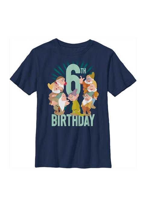 Disney® Princess Boys 4-7 Dwarves 6th Birthday Graphic