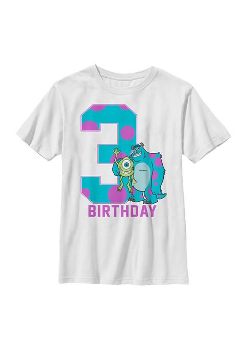 Boys 4-7  Birthday Monster Graphic T-Shirt