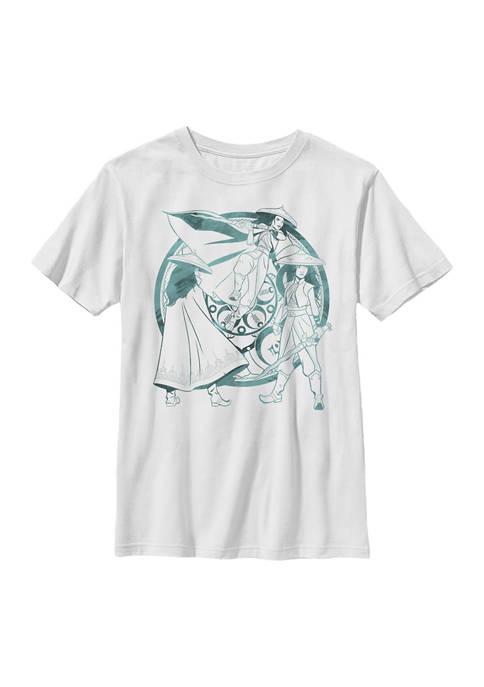 Boys 4-7  Raya Watercolor Graphic T-Shirt