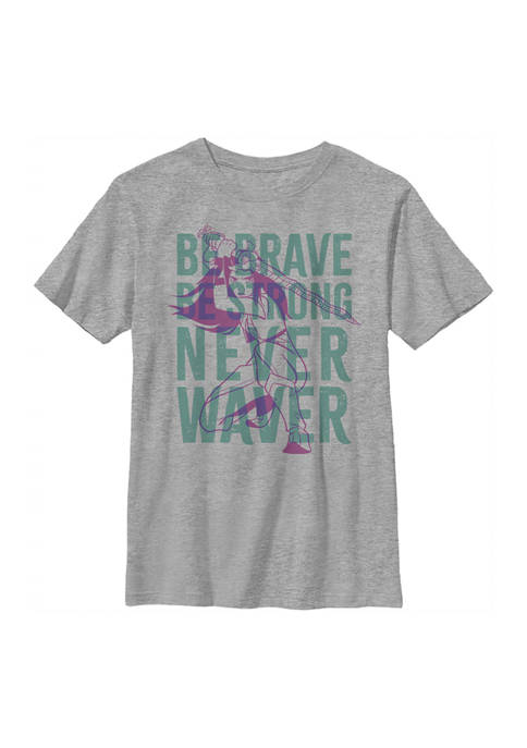 Boys 4-7 Be Brave Be Strong Never Waiver Overlay Graphic T-Shirt