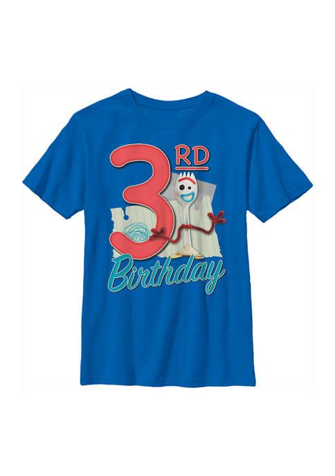 Boys 4-7 Forky 3rd Birthday Graphic T-Shirt