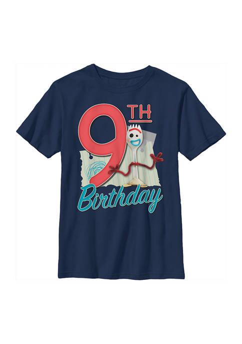 Boys 4-7 Forky 9th Birthday Graphic T-Shirt