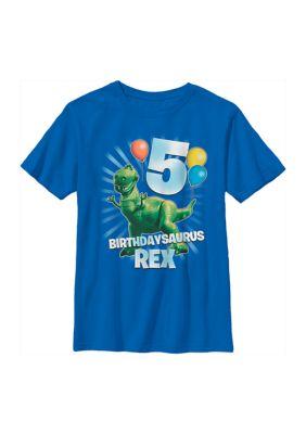 Disney Pixar Toy Story Boys Boys 4-7 Balloon Rex 5 Graphic T-Shirt