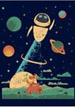 Boys 4-7 Wall-E Wall-E Space Poster Graphic T-Shirt