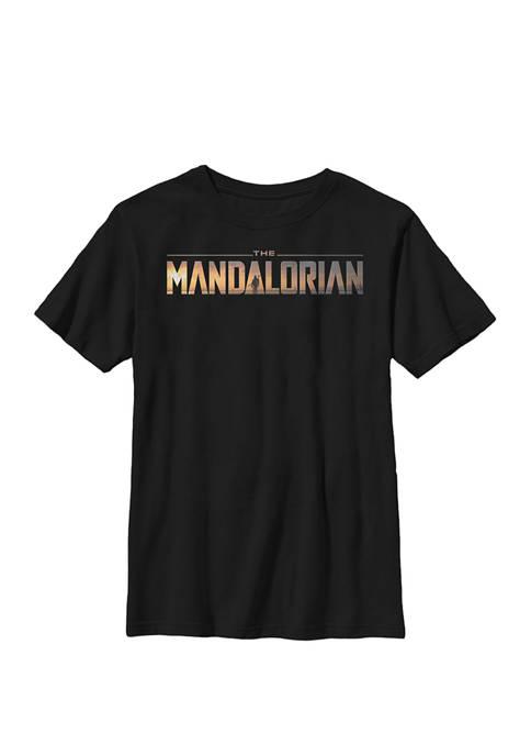 Boys The Mandalorian Classic Movie Logo Crew T-Shirt