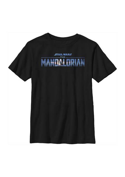 Boys 4-7 Star Wars The Mandalorian New Mando Logo Top