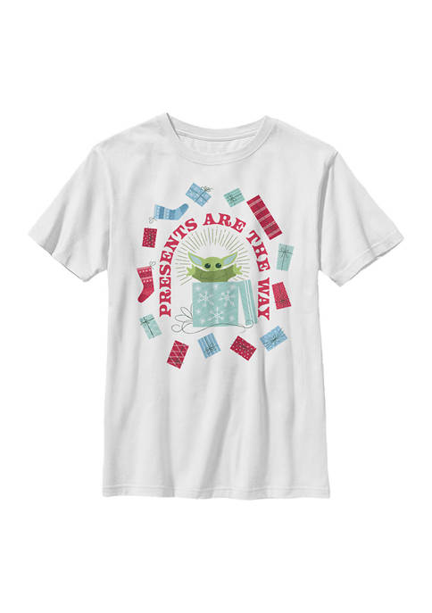 Boys 4-7 Presents are the Way Graphic Top
