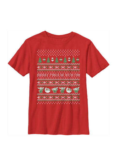 Boys 4-7 The Child Ugly Sweater Graphic Top