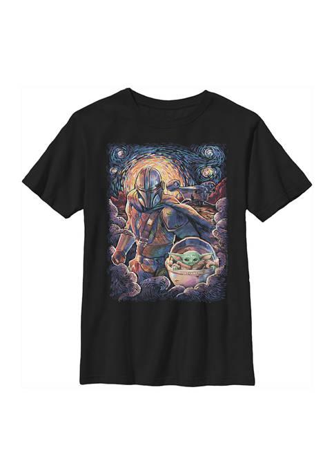 Boys 4-7 Mando Child Razor Painty Stars Graphic T-Shirt