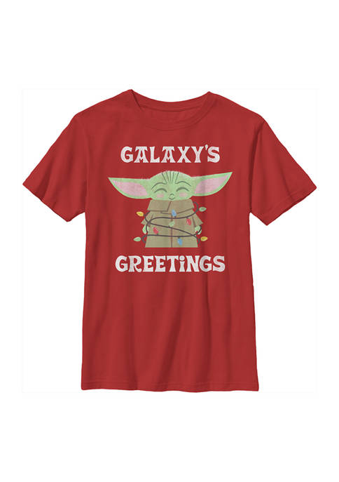 Boys 4-7 Galaxys Greetings Graphic Top