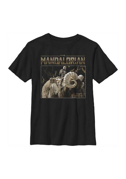 Boys 4-7 Star Wars The Mandalorian Bantha Ride Graphic T-Shirt