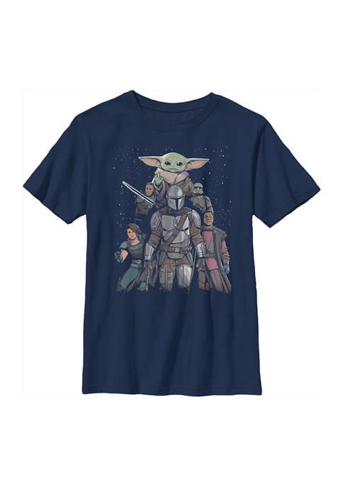 Boys 4-7 Mandalorian Movie Poster Graphic T-Shirt
