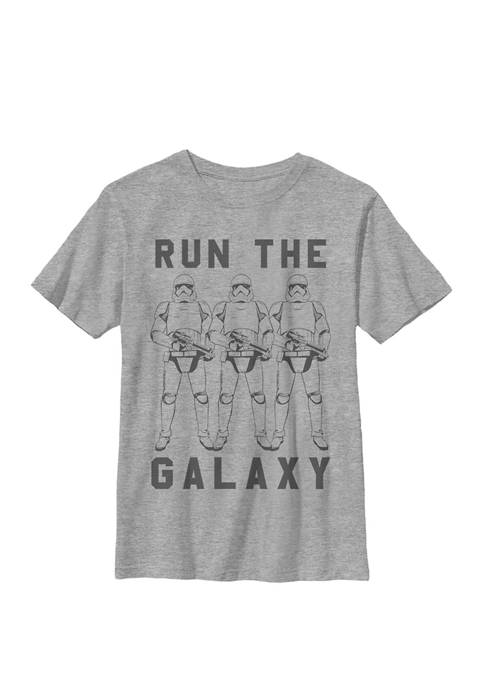 Boys Trooper Run The Galaxy Text Crew T-Shirt