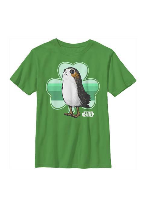 Boys 4-7  Porg Clover Graphic T-Shirt