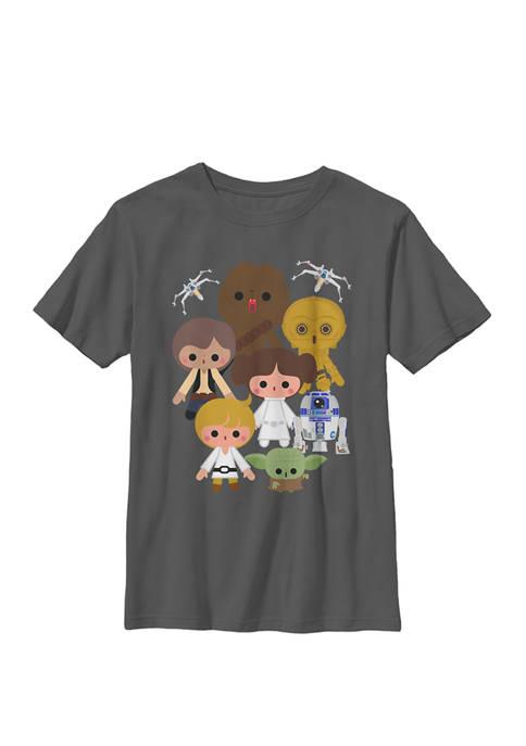 Boys Cute Kawaii Style Heroes Crew T-Shirt