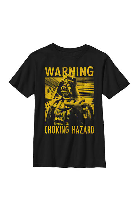 Darth Vader Choking Hazard Crew Graphic T-Shirt