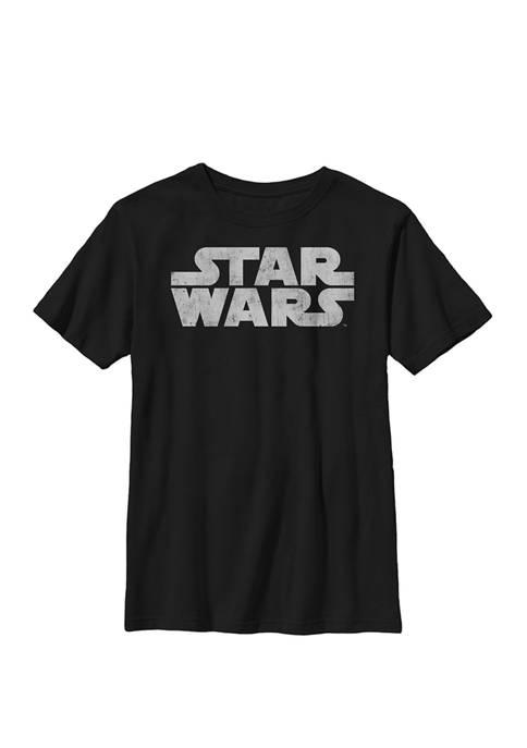 Boys Simple Vintage Logo Crew T-Shirt