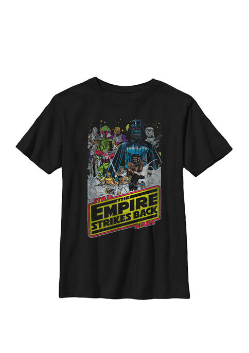 Boys The Empire Strikes Back Group Shot Movie Poster T-Shirt