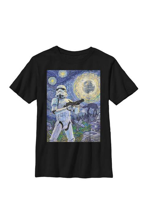 Boys 8-20 Stormtrooper Starry Night Crew T-Shirt