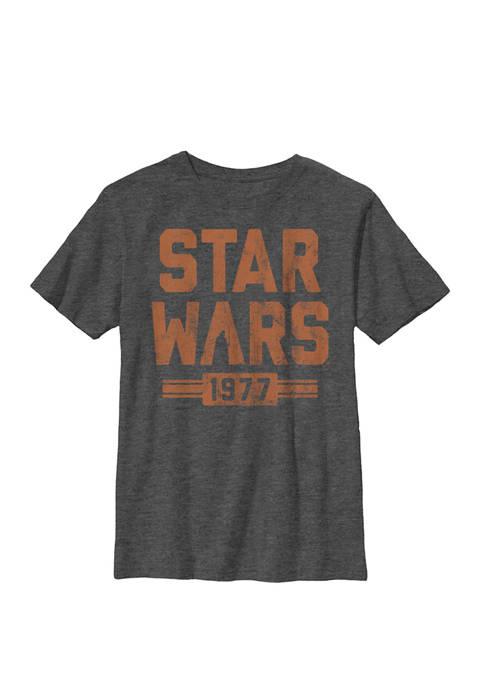 Boys 8-20 Retro 1977 Vader Silhouette Vintage Crew T-Shirt