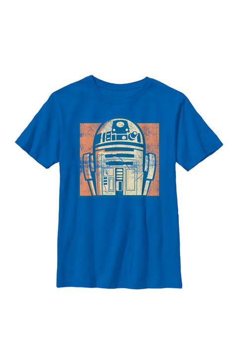 Boys 8-20 R2-D2 Vintage Distressed Retro Cartoon Crew