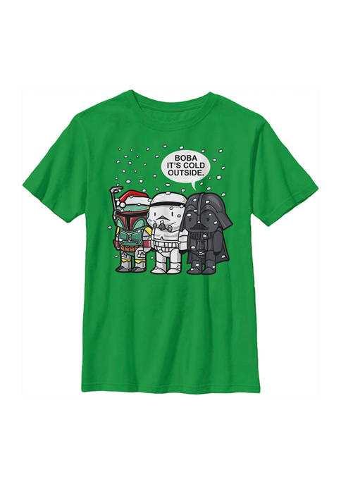 Boys 4-7 Boba Its Cold Graphic Top