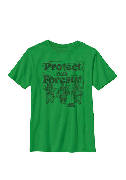 Boys 8-20 Ewoks Protect Our Forests Camp Crew Graphic T-Shirt