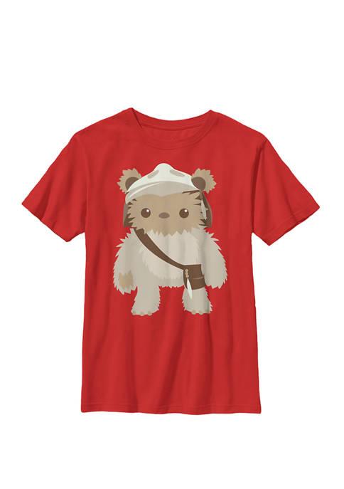 Lumat Ewok Cute Cartoon Warrior Crew Graphic T-Shirt