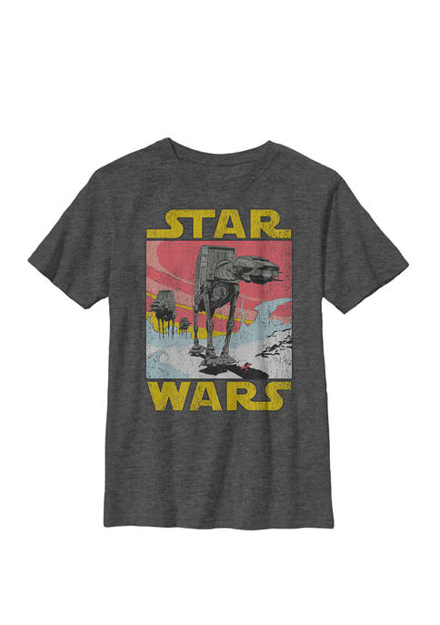 Boys 8-20 AT-AT Sunset Logo Walker Crew Graphic